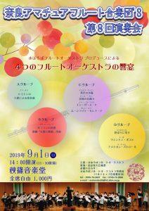 奈良アマチュアフルート合奏団'S 第8回演奏会 チラシ表面